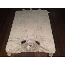 lovely animal 3D emb fleece fabric baby product throw