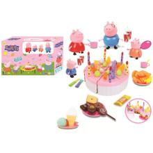 Favory розовый день рождения Торт свинья игрушки с свет