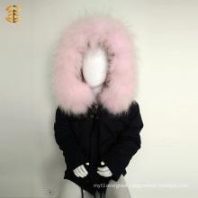 Winter Kid Cotton Children Jacket with Fox Fur Lining