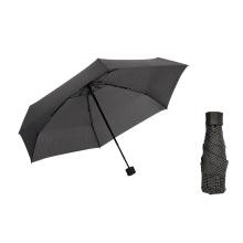 Windproof Portable Sun Mini Custom Logo Grid 5 Folding Capsule Umbrella