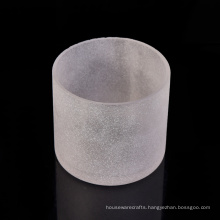 Customized 15oz Frosted Glass Candle Holder Jar