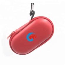 Oval EVA Protective Lens Storage Zipper Case Carabiner