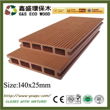 Impermeable WPC DECKING wpc suelo al aire libre wpc decking board