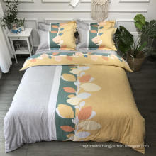 Luxury High Quality Bedding Cotton Fabric Soft for 4PCS Double Bed Sheet