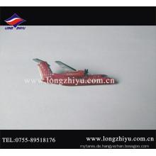 Benutzerdefinierte Metall gedruckt Logo und Epoxy Flugzeug Pin Abzeichen