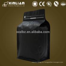 El precio de fábrica se levanta el bolso de papel kraft alineado hoja plana de aluminio de la bolsa con la ventana