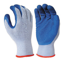 10G T/C Yarn 5 Thread 21S Latex Dipping Work Gloves For Construction