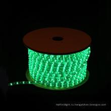 Светодиодные веревки круглый 2 проводов зеленый для рождественских украшений