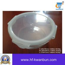 Alta qualidade clara caixa de vidro com tampa de plástico utensílios de cozinha Kb-Jh06090