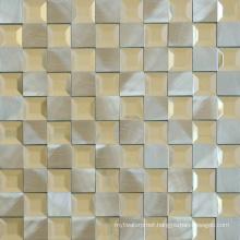300X300 Interior Wall Colour Mixture Glass Aluminum Mosaic Tile
