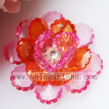 41MM acrílico cristal Artificial Beading flores decorativas