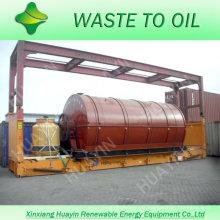 La cinquième génération 5/8/10/12 tonnes de déchets / pneu usé / machine de recyclage en plastique avec protection de l'environnement