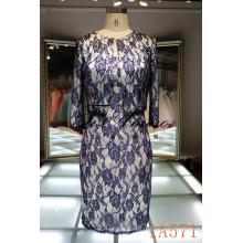 Venta al por mayor personalizada 2016 vestido de noche de traje de dos piezas vestido de oficina de la señora vestido corto vestido de fiesta sin tirantes