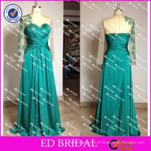 ED Bridal Elegant New Arrival Lace Appliqued Luva longa A Line Women Evening Dresses