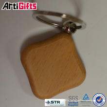 Promotion cheap puzzle wooden keychain
