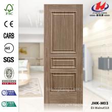 JHK-M03 Grain de bois et texture levée Noyer MDF ISO9001 Peau de porte d'entrée