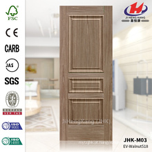 JHK-M03 Madeira Grain E Raised Textura Walnut MDF ISO9001 Porta de Entrada Pele