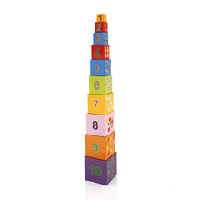 Cartoon pattern count kids puzzle game educational toy blocks