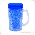 Double tasse givrée de mur tasse de bière de glace congelée pour des cadeaux promotionnels (HA09071-1)