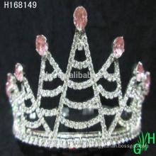 New designs rhinestone royal accessories ballet crown tiaras