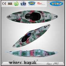 White Water Kayak with Inflatable Foot Control