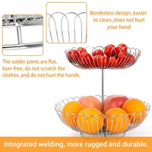 Stainless steel fruit basket two layers fruit rack