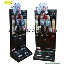 Fashion Hooks Cardboard Paper Display, Hooks Display with Wig (B&C-B027)