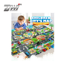 Portable Children City Map Highway Taffic play Mat Toys Cars Play Mat Baby Educational Toys For Kids Games Scene map