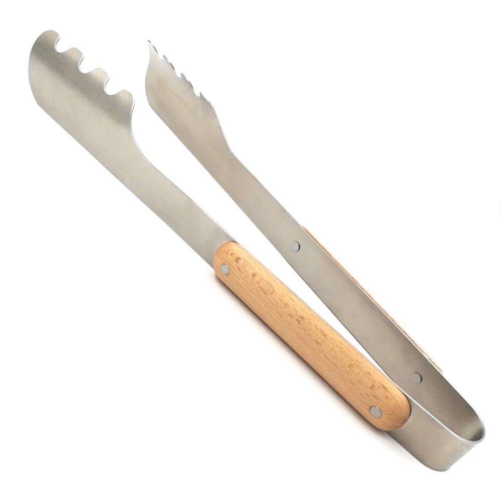 Stainless Steel 304 BBQ Tong with Wooden Handle