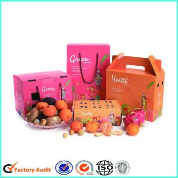 Cajas de cartones de cartón de frutas frescas de colores
