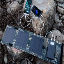 8W 4000mAh Foldable Power Bank Folding Solar Panel External Backup Battery Charger