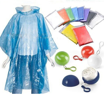 Poncho de chuva adulto venda quente Gear In Ball