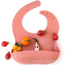 Custom Reusable Easy Clean Baby Bibs Silicone Bib
