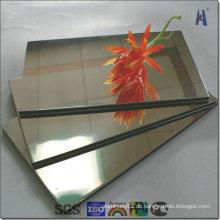 Gold und Silber Spiegel Aluminium Verbundplatte