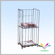 Custom design metal wire newspaper display stand