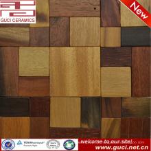 olhar de madeira da telha de mosaico decoração da parede do barroom da telha de assoalho