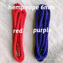 100% corde de couleur chanvre-6 mm