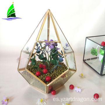 Artdragon Polyhedron prism terrarium supplier,desktop hanging garden glass geometric terrarium wholesale