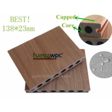 ¡Fábrica de WPC con tapa superior! Piso compuesto de la cubierta de la coextrusión hueco 138 * 23