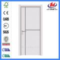JHK-P01 cheap standard size of white plastic  pvc flush  interior door