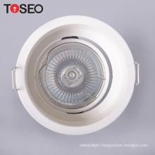 Die casting aluminium anti glare ceiling round downlight holder housing