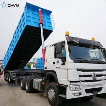 Customized 12 Wheels Hydraulic Lifting Dump Semi Trailer
