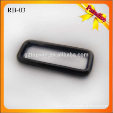 RB03 Rectangle personnalisé taille différente sac à bagages boucle métallique fournisseur de boucle carrée