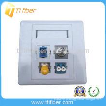 Placa de pared / Placa de fibra óptica híbrida SC / ST / FC / LC de 4 puertos