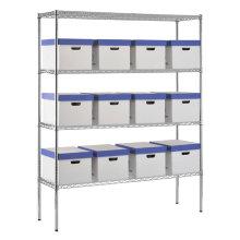 Multi Tiers Decorative Storage Wire Shelving, Wire Shelves, Storage Shelf (HD186063A4C)