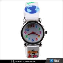 Relógio barato colorido de borracha de silício para crianças