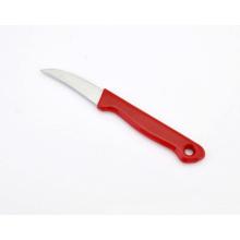 Faca de Pared da lâmina curvada do aço inoxidável, faca da fruta com punho plástico