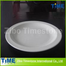 Feine weiße Porzellan Pizzaplatte (TM060503)