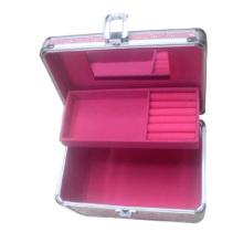 Boîte à bijoux rose en aluminium