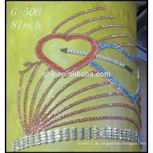Kundenspezifische krone tiara valentinstag tiara krone